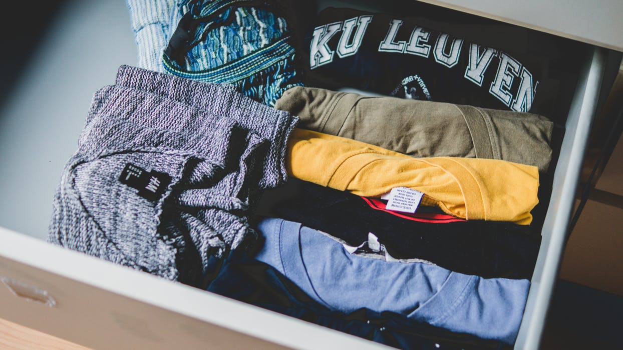 Packed clothes
