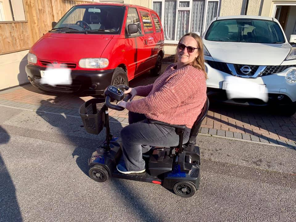 Lady on Mobility Scooter